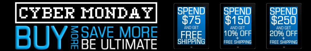 Ultimate Nutrition Cyber Monday Promo Banner