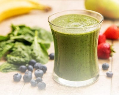 Berry Spinach Protein Smoothie